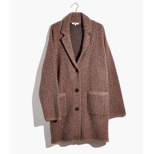 Madewell Birdseye Sweater Coat Size Small